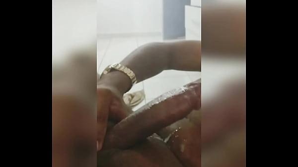 Big cook black masturbating
