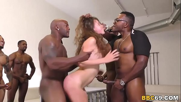 Zoey Laine Interracial Gangbang