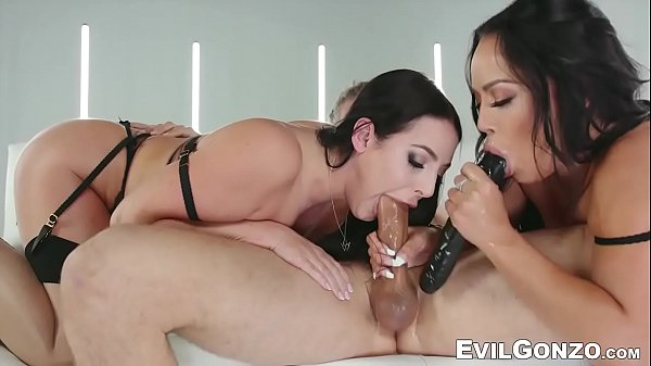 Sensual babes use cock and dildo to fuck their slutty holes