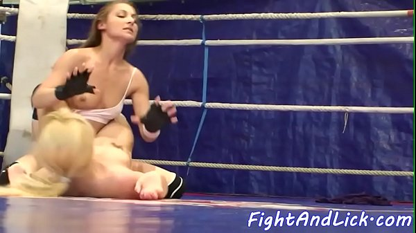 Lesbian amateur pussylicking after wrestling Thumb