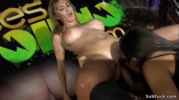 Public group fucking at sex expo