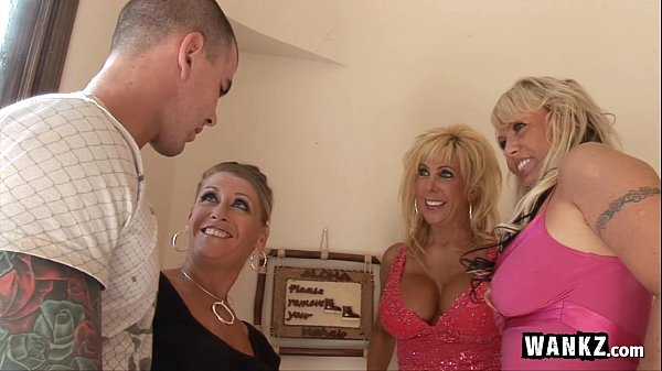 3 Horny Housewives Gangbang 1 Lucky Guy! Thumb