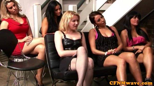 CFNM tug loving babes doing some magic