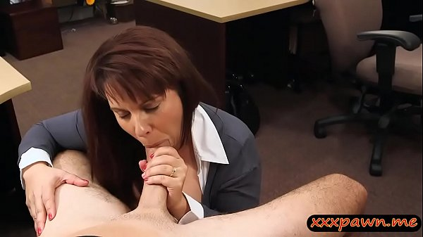 Busty milf pounded by nasty pawn dude in the backroom