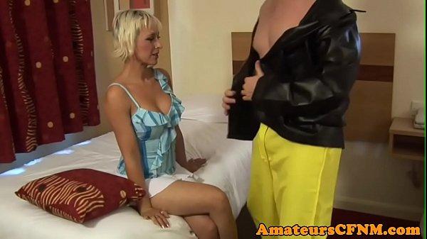 MILF babe humiliates naked stripper
