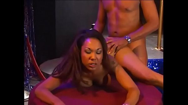 Ebony skank Victoria Style takes a thick cock up her tight pussy and tastes jizz