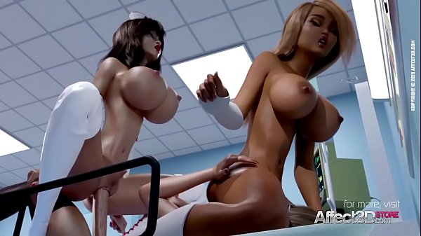 Nurse Nina helps her futanari patients ina 3D ...