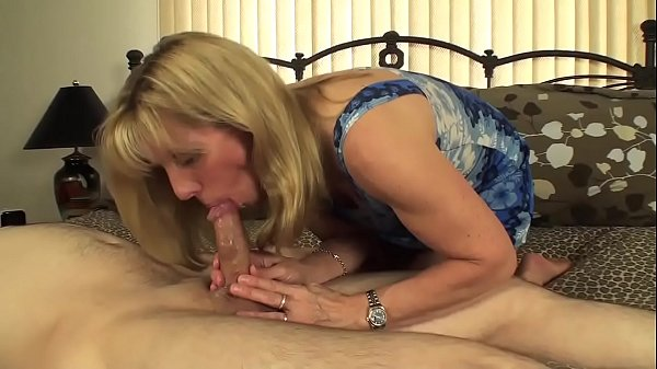 54 year old MILF gets a 19 year old boy as a bi...