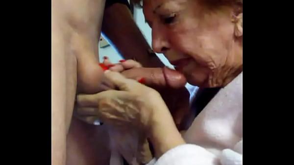 86yo Norma sucking me