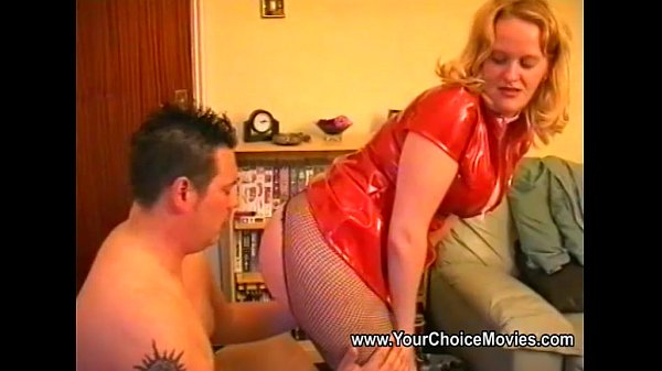 Chubby housewife with shaved pussy is fucked well