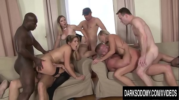 Four Cock Hungry Sluts Get Passed Around Between BBC and White Dicks Thumb