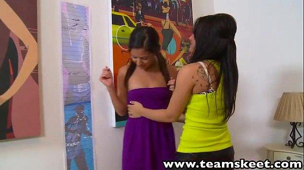 ExxxtraSmall Petite babes Ariana Grabriella Paltrova lesbian licking pussies
