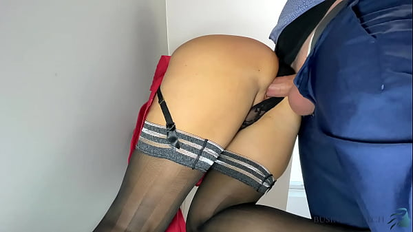 Business meeting break - secretary rides the boss and gets a juicy creampie and a salary increase as a reward