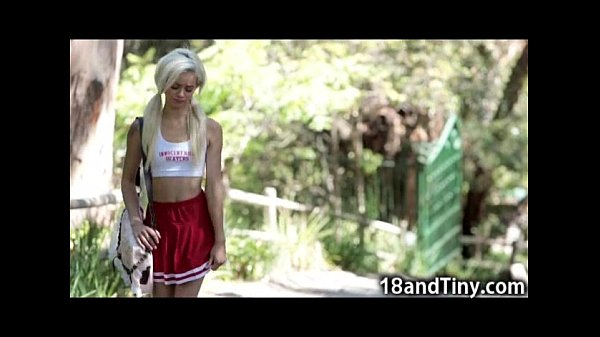 Tight Tiny Teen Cheerleader Rides Cock!