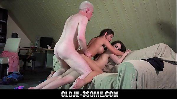 Grandpa Fucks Teenies Sweet Girls In Bedroom th...