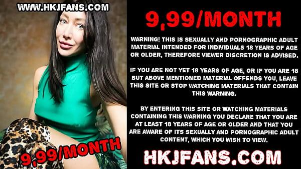 Hotkinkyjo take in ass long dildo from sinnovator, belly bulge, anal fisting & prolapse - HKJFANS