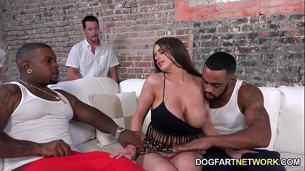 Brooklyn Chase Fucks Two Black Guys To Please H...