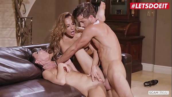 SCAM ANGELS - (Richelle Ryan, Aidra Fox & Lucas Frost) Football Player Scammed By A Hot MILF And Her Teen BFF