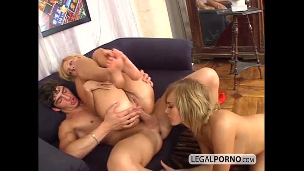 Two hot blondes take a big dick in the ass SL-22-01 Thumb