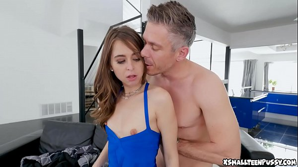Stepdaughter's pussy gets so wet when she sees his monster cock