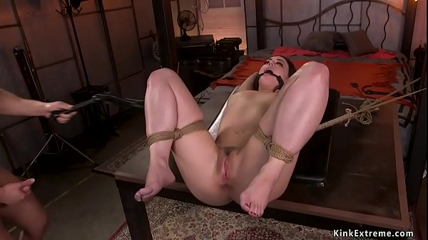 Hot legal counsel is bound and banged