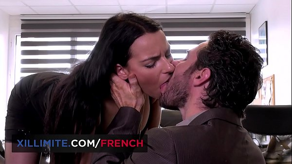 Busty French brunette Sophia Laure fucked at the office