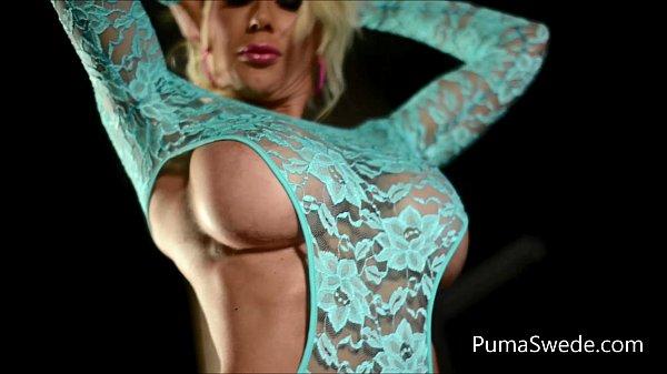 European Blonde Puma Swede Gets Cums From Pink Dildo