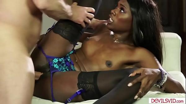 Ebony babe sucks bfs friend to pay debt