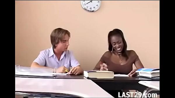 Teacher Midori fucks her white student after class