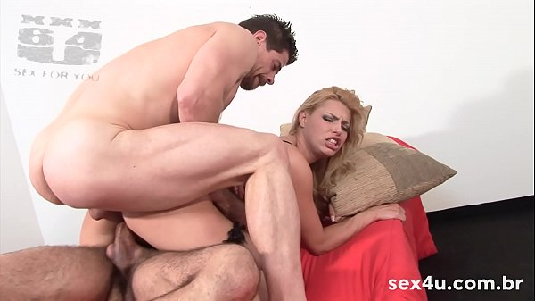 NIKKI RIO with double anal penetration, DAP, HARD, ROUGH. GROUP with CARLÃO BAZUCA and VICTOR GAÚCHO