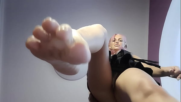 Russian Mistress fuck you mouth with feet