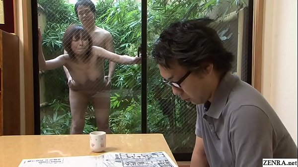 Uncensored Japanese wife outdoor raw sex with gardener