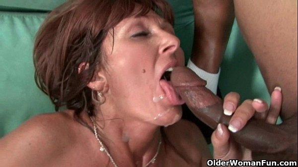 Milfs Desi Foxx and Dorothy unload a hard cock ...