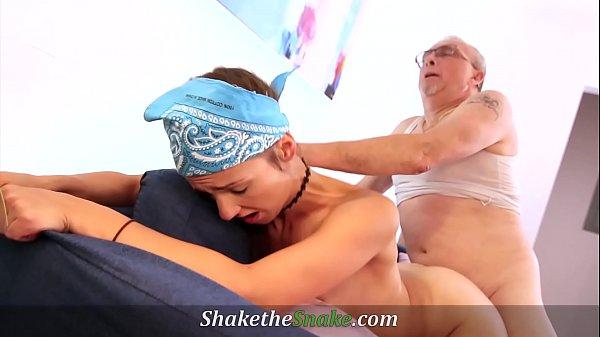 Shake The Snake - Old GrandPa Fucks Young Teen Thumb