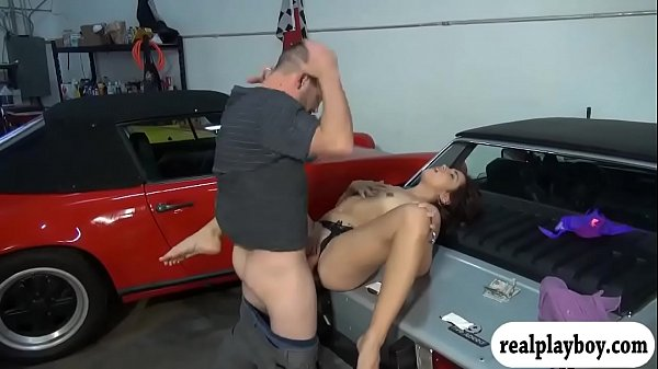 Two gils flashed tits and one of them gets fucked for cash