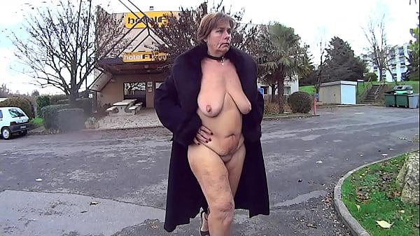 Suzisoumise's naked F1 Hotel slut walk. Thumb