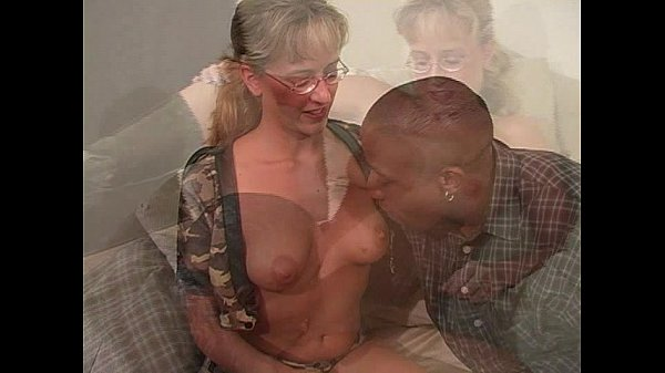 Blond momma taking thick black cock
