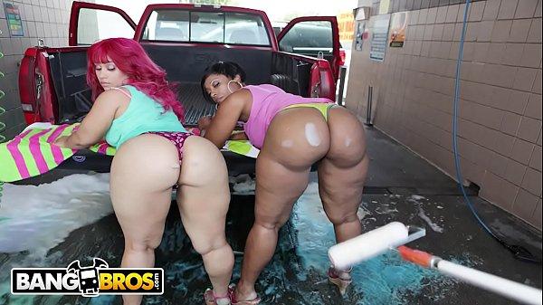 BANGBROS - At The Car Wash With Cherokee & Pink...