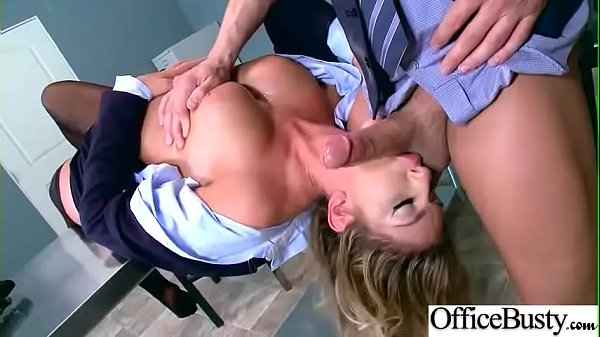 Hard Bang On Cam In Office With Big Round Tits Girl (August Ames) video-03