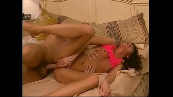 Brunette beauty gets eaten out and rides a mutant cock with her tight pussy