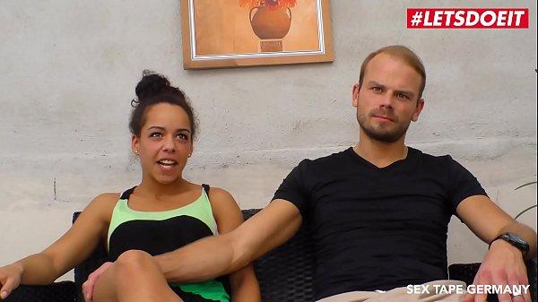 LETSDOEIT - Horny German Couple Films their Sex-Tape Outside  thumbnail