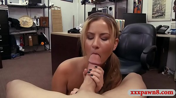 Tiny titted babe gets banged by pawn man