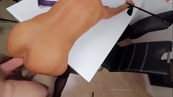 Blonde ho bound and fucked in her ass