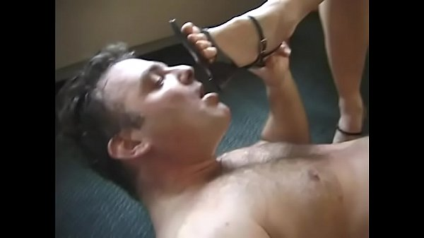 Calli Cox and Goldy star in foot worship foot domination footslave trampling and trample scene and have their male slaves worship their feet and stand and jump on them