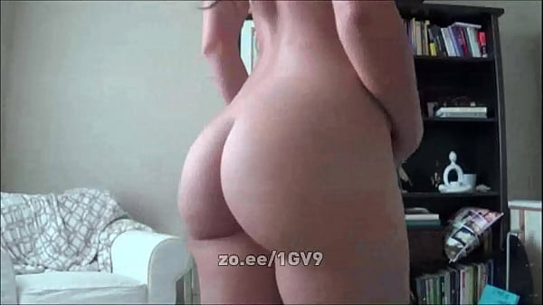 Sexy Girl With Fat Ass Strips From Panties And Slaps Herself For