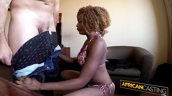 Amateur Ebony Slut Takes 9 Inch Dick Down Her Throat