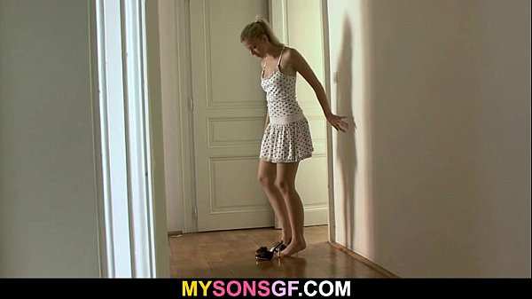 Lovely young blonde falls for her BF's dad