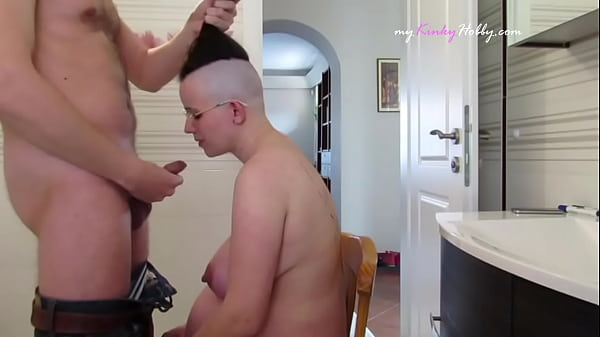 This pregnant whore's hair was shaved then she gave me a blojow