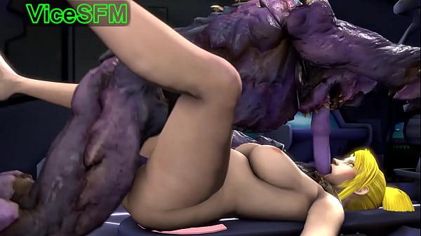 Samus Aran fucked by a monster Thumb