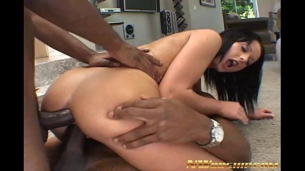 2 black cocks for horny slut double penetration...